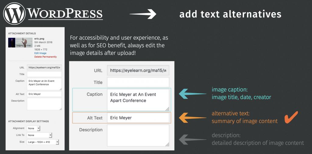 screenshots of adding alt text